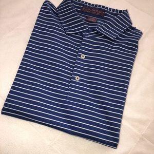Martin Golf polo (L) blue/white